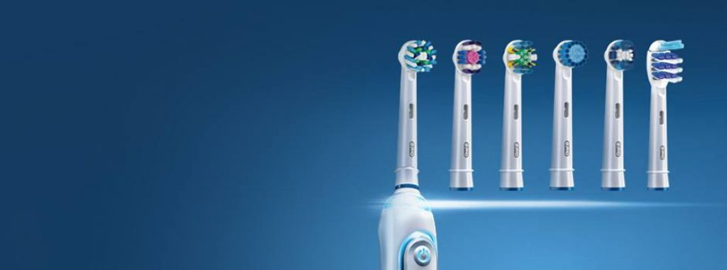 Brush heads of Oral B electric toothbrushes