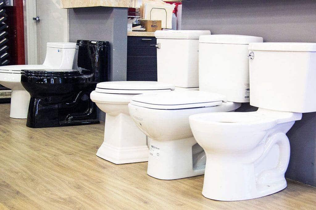 Choice of toilet bowls