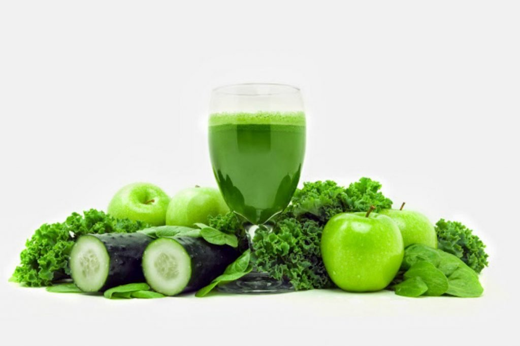 Juice from leafy greens