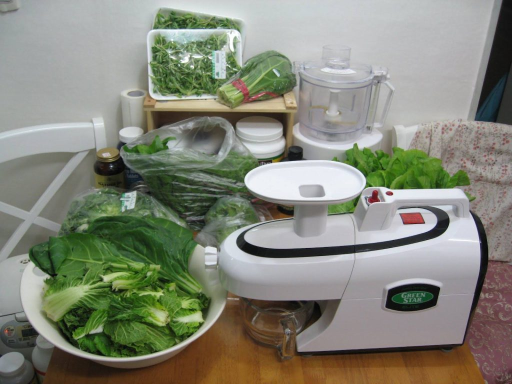 Juicing speed juice from leafy greens
