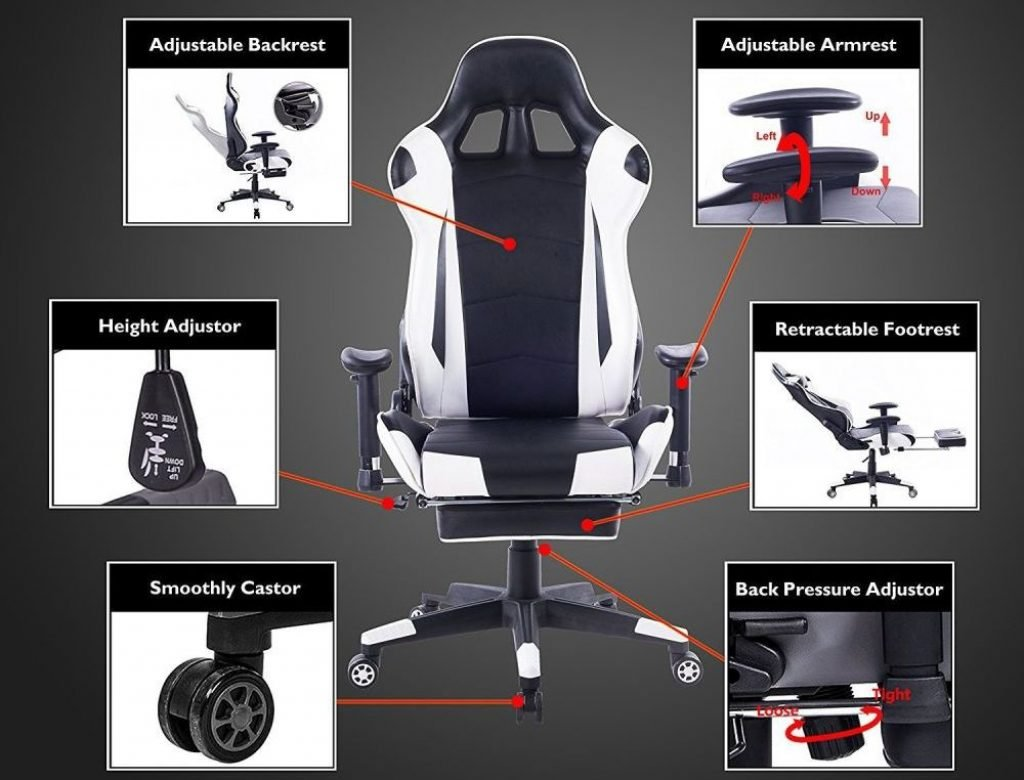 Extra functions gaming chair
