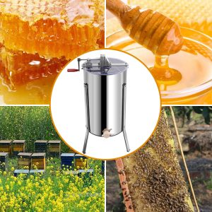 Goplus Large 2 Frame Stainless Steel Honey Extractor_6