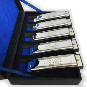 Harmonica Set with Case By Reckless Harmonicas 1 300x300 image