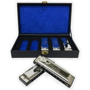 Harmonica Set with Case By Reckless Harmonicas 3 300x300 image