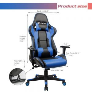 Homall Executive Swivel Faux Leather Gaming Chair 2 300x300 image