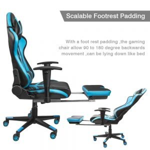 Homall Gaming Chair Ergonomic High Back Racing Chair Blue black S Racer 2 300x300 image