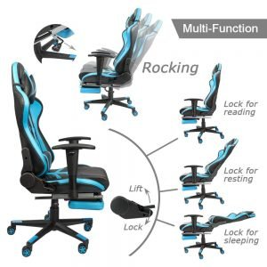 Homall Gaming Chair Ergonomic High Back Racing Chair Blue black S Racer 3 300x300 image