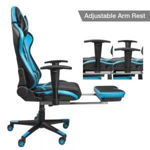Homall Gaming Chair Ergonomic High Back Racing Chair Blue black S Racer 4 300x300 image