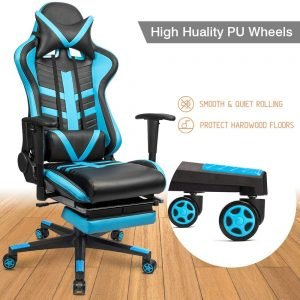 Homall Gaming Chair Ergonomic High Back Racing Chair Blue black S Racer 5 300x300 image