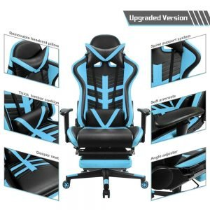 Homall Gaming Chair Ergonomic High Back Racing Chair Blue black S Racer 6 300x300 image