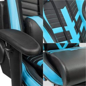 Homall Gaming Chair Ergonomic High Back Racing Chair Blue black S Racer 7 300x300 image
