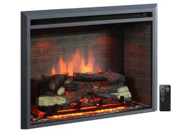 PuraFlame 26 inches Western Electric Fireplace Insert with Remote Control, 750 1500W_1