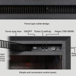 PuraFlame 26 inches Western Electric Fireplace Insert with Remote Control, 750 1500W_6