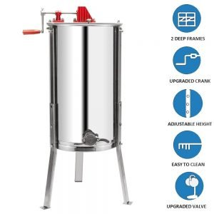 VINGLI Upgraded 2 Frame Honey Extractor_2
