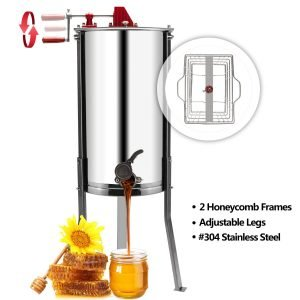 VINGLI Upgraded 2 Frame Honey Extractor_4