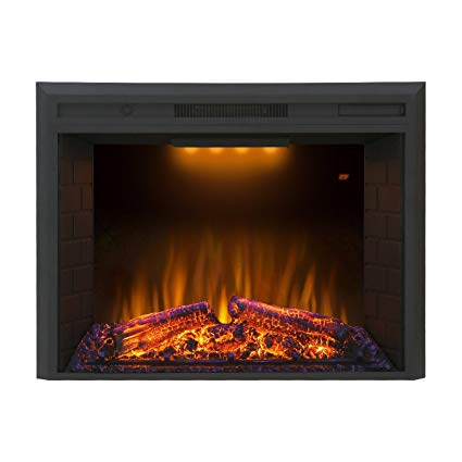 Valuxhome Houselux 30 inches 750W 1500W, Embedded Fireplace Electric Insert Heater, Fire Crackler Sound_1