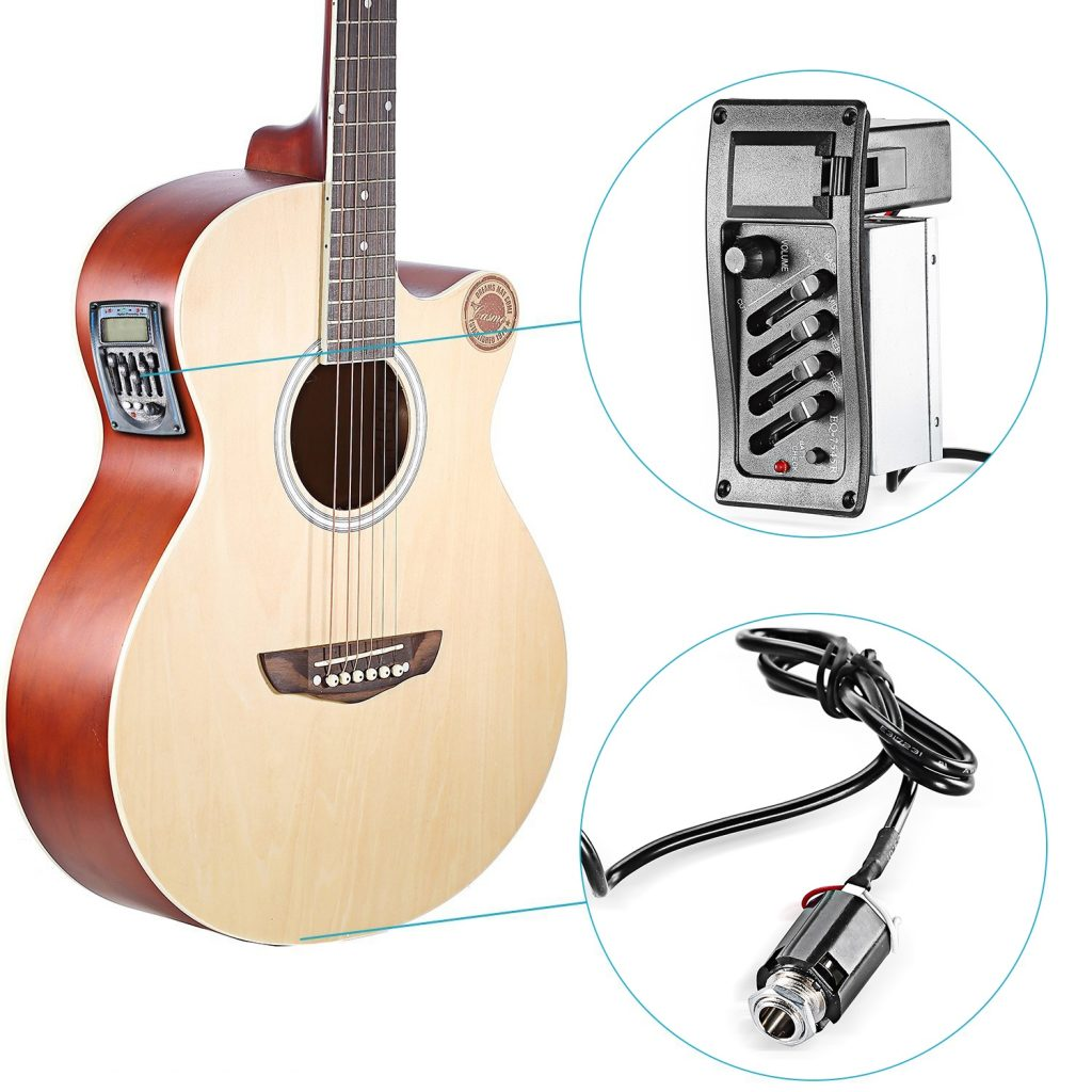 Acoustic-electric guitars have preamp