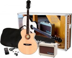 Epiphone PR 4E AcousticElectric Guitar Player Package 5 300x243 image