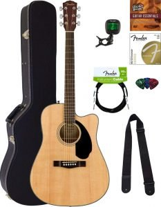 Fender CD 60SCE Dreadnought Acoustic Electric Guitar 5 233x300 image