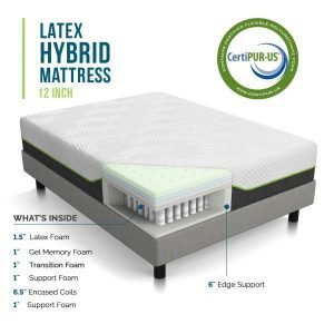 LUCID 12 Inch Queen Hybrid Mattress_3