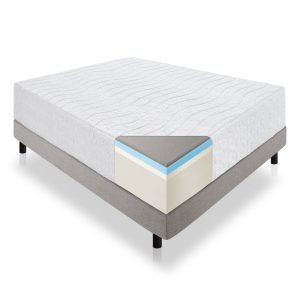 LUCID 16 Inch Plush Gel Memory Foam and Latex Mattress_1