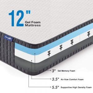 Sweetnight 12 inch Gel Memory Foam Mattress_3