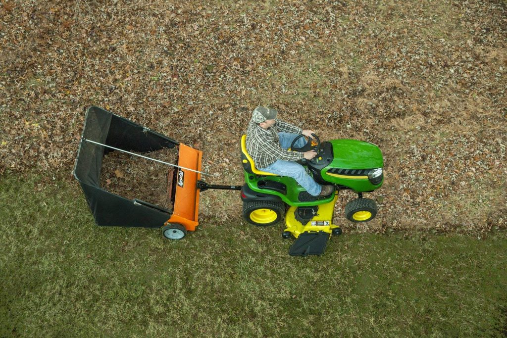 The usage lawn sweeper