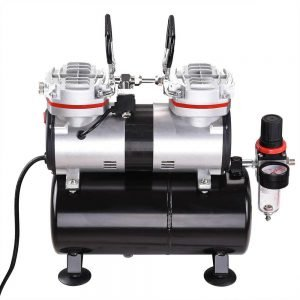 AW Pro Twin Cylinder Airbrush Compressor 3 300x300 image