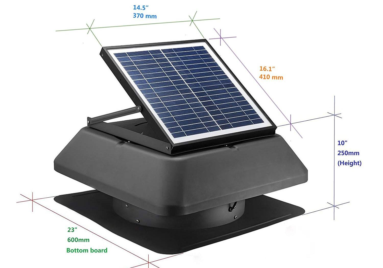 Size Solar Attic Fan