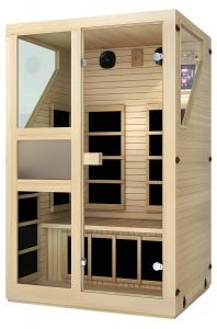 JNH Lifestyles ENSI Collection 2 Person Infrared Sauna-2