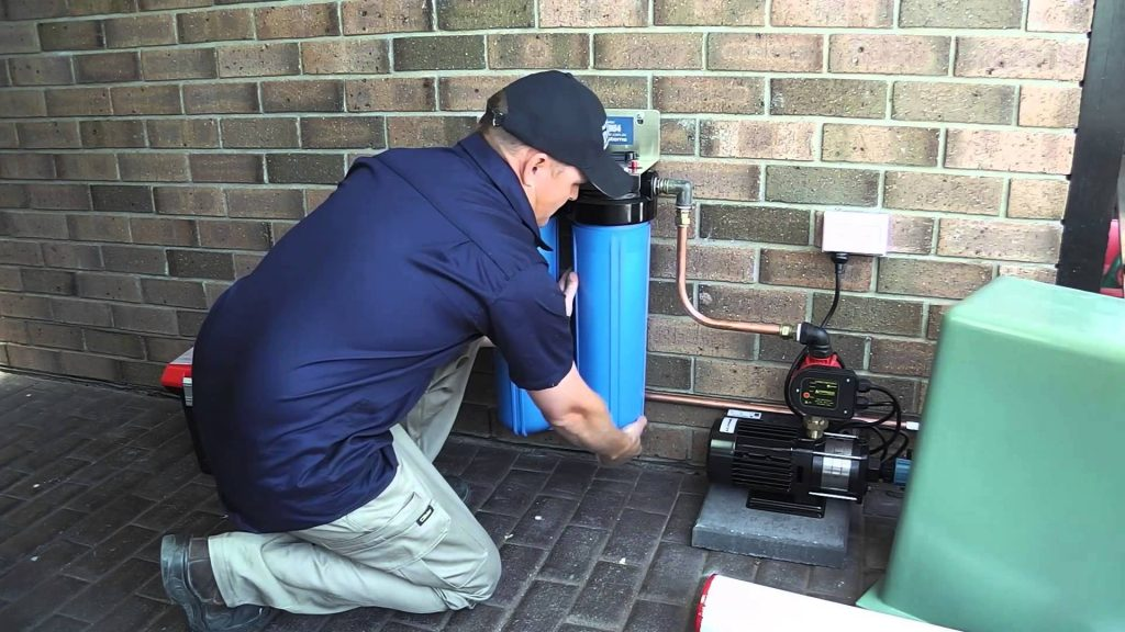 Installation of a filtration system