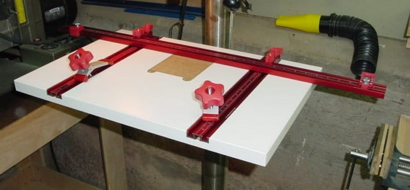 Material Drill Press Table