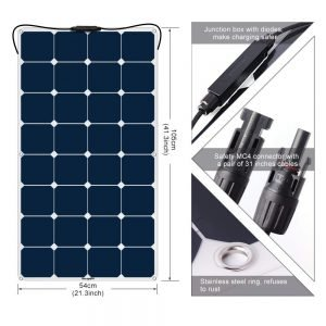 BougeRV 100W Flexible Solar Panel-1