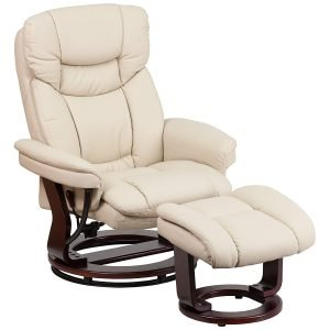 Flash Furniture Contemporary Beige Leather Recliner 1 300x300 image