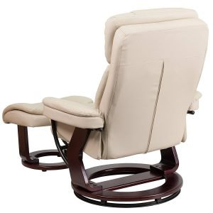 Flash Furniture Contemporary Beige Leather Recliner 2 300x300 image