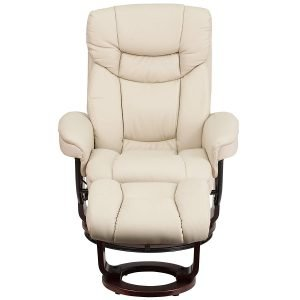Flash Furniture Contemporary Beige Leather Recliner 3 300x300 image