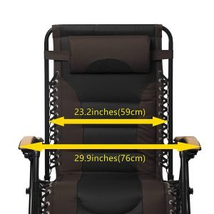 LUCKYBERRY Deluxe Oversized Padded Zero Gravity Chair 2 300x300 image
