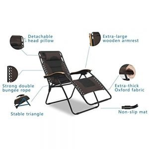LUCKYBERRY Deluxe Oversized Padded Zero Gravity Chair 3 300x300 image