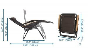 LUCKYBERRY Deluxe Oversized Padded Zero Gravity Chair 4 300x165 image