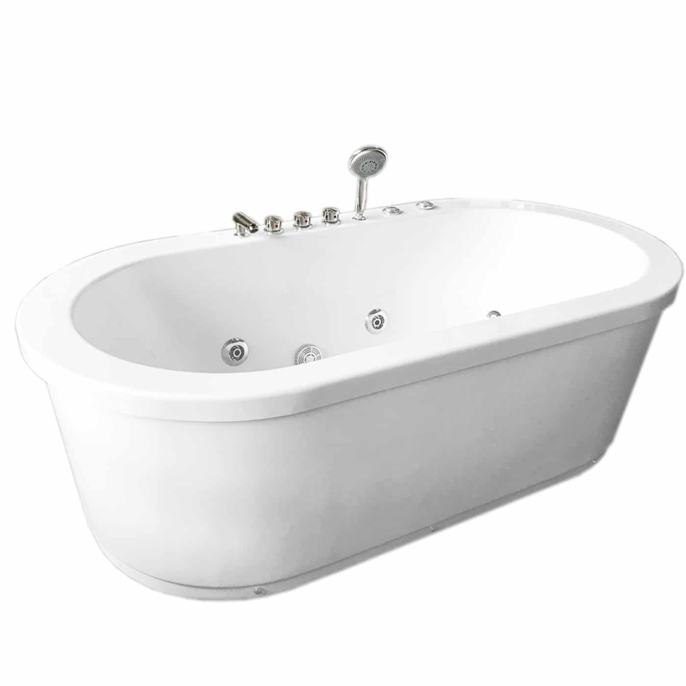 MCP Jetted Tubs Freestanding Hydrotherapy Bathtub_2