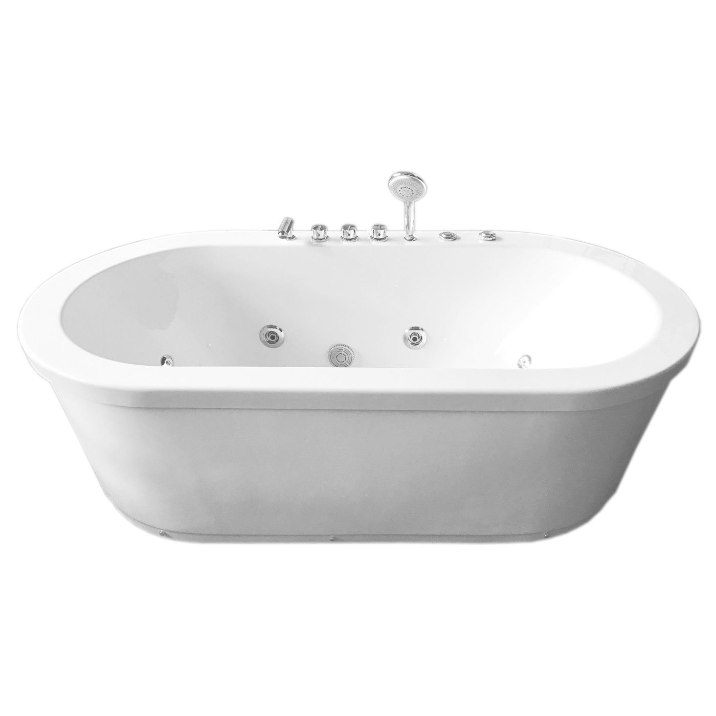 MCP Jetted Tubs Freestanding Hydrotherapy Bathtub_3