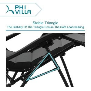 PHI VILLA Padded Zero Gravity Lounge Chair-4