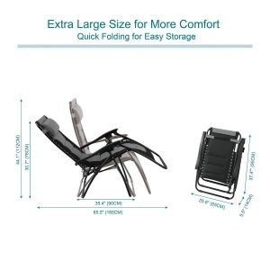 PHI VILLA Padded Zero Gravity Lounge Chair-6