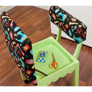 Arrow Sewing Sewing Chair with Scalloped Base-1