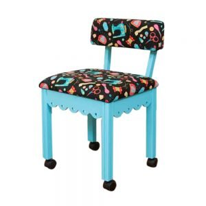 Arrow Sewing Sewing Chair with Scalloped Base
