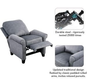 BONZY Roll Arm Push Back Recliner 4 300x272 image