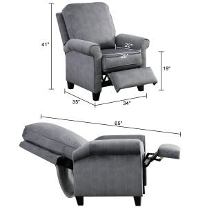 BONZY Roll Arm Push Back Recliner 5 300x300 image