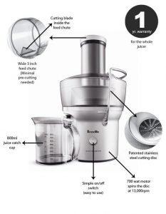 Breville BJE200XL Compact Juice Fountain 3 233x300 image
