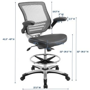 Modway Edge Drafting Chair-1