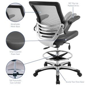 Modway Edge Drafting Chair-2